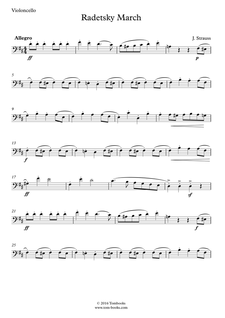 radetzky march sheet music pdf