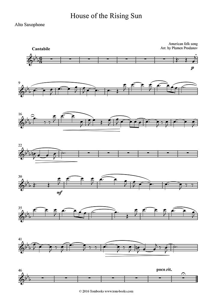 Saxophone Sheet Music The House Of The Rising Sun Alto Saxophone Traditional,Bathroom Wall Art Ideas Diy