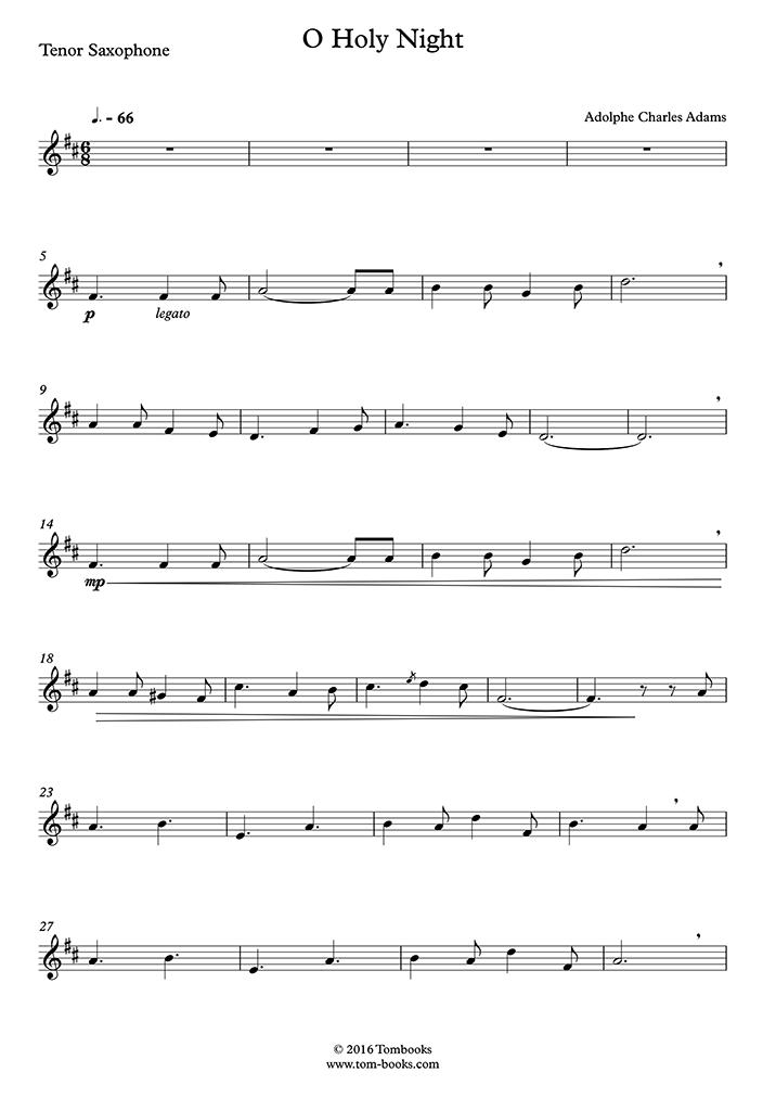 Christmas music - O Holy Night (Tenor Saxophone)