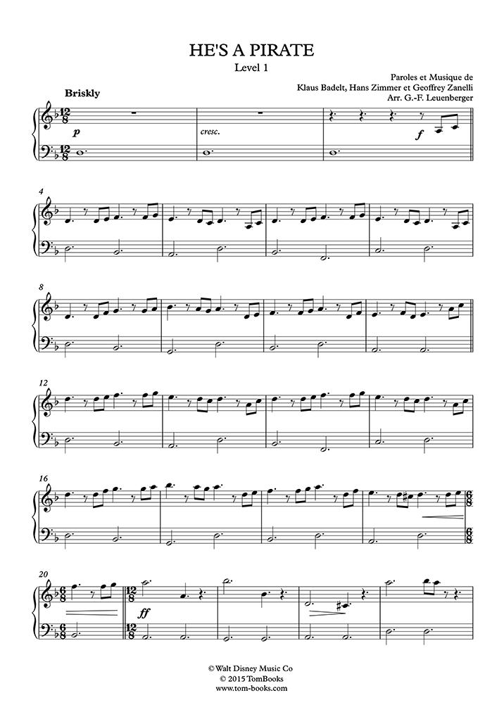 Der karibik klavier kostenlos noten fluch Fluch der