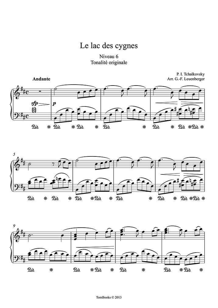Tchaikovsky - Swan Lake (Intermediate/Advanced Level, Solo