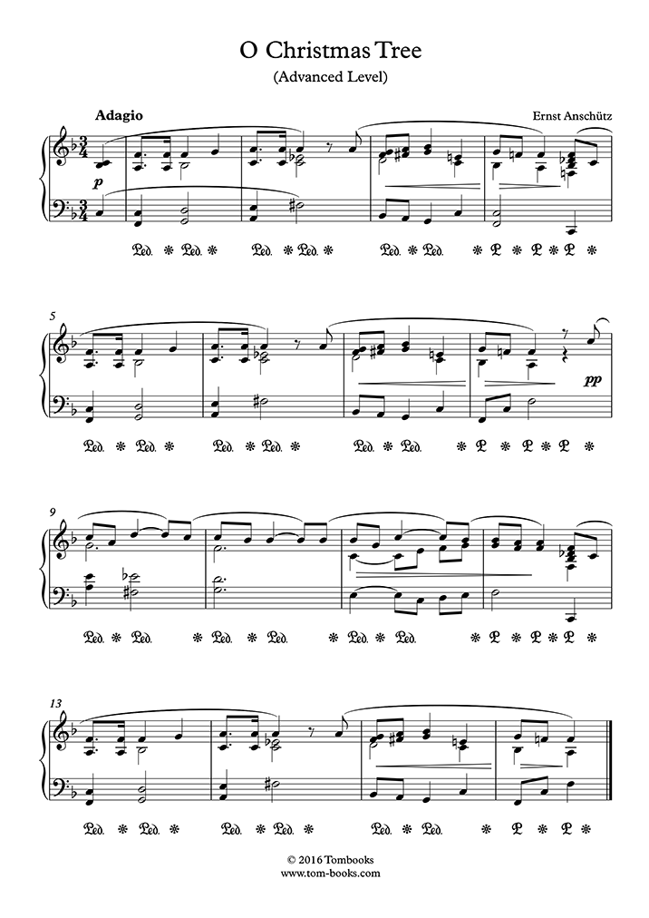 O Tannenbaum Piano.Anschutz