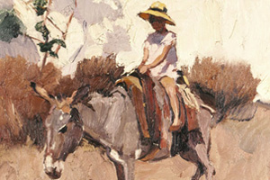 Traditional--Riding-on-a-Donkey