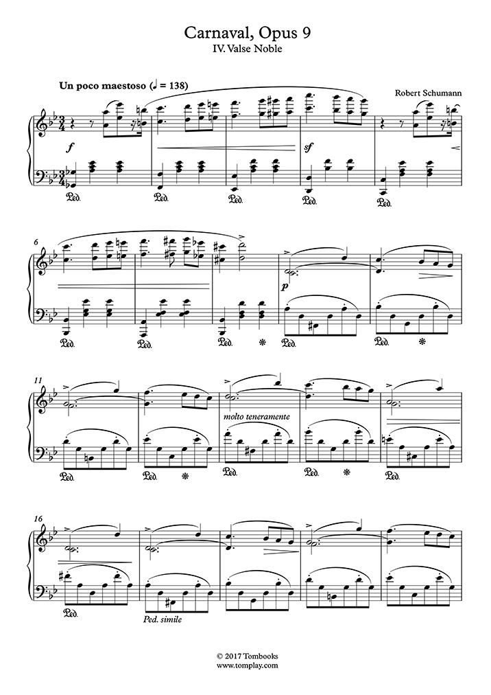 Play Schumann - Carnaval, Opus 9 – IV  Valse noble - Piano