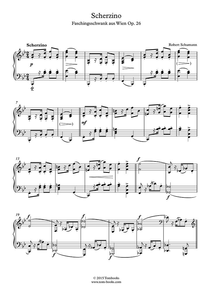Schumann - Carnival Scenes from Vienna, Opus 26 - III  Scherzino - Piano
