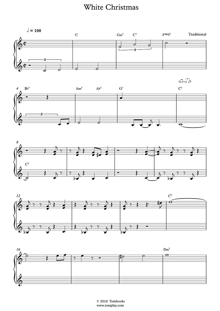 Sheet Music details. Traditional-White-Christmas.jpg. Preview the score