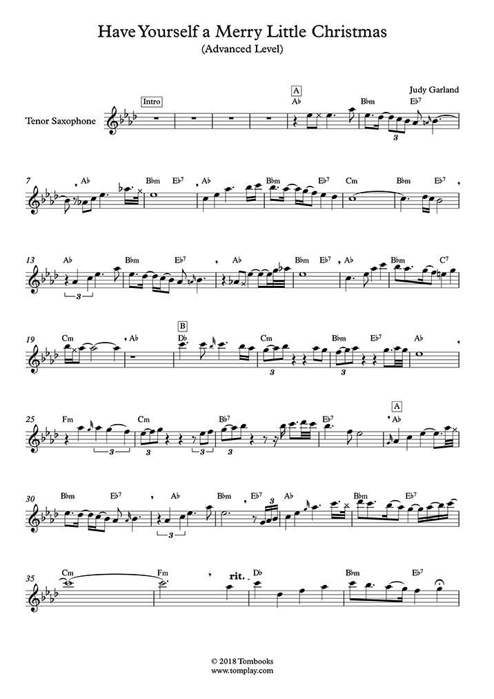 サックス 楽譜