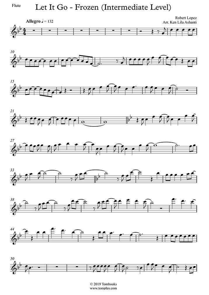 Menzel Let It Go Frozen Intermediate Level Flute